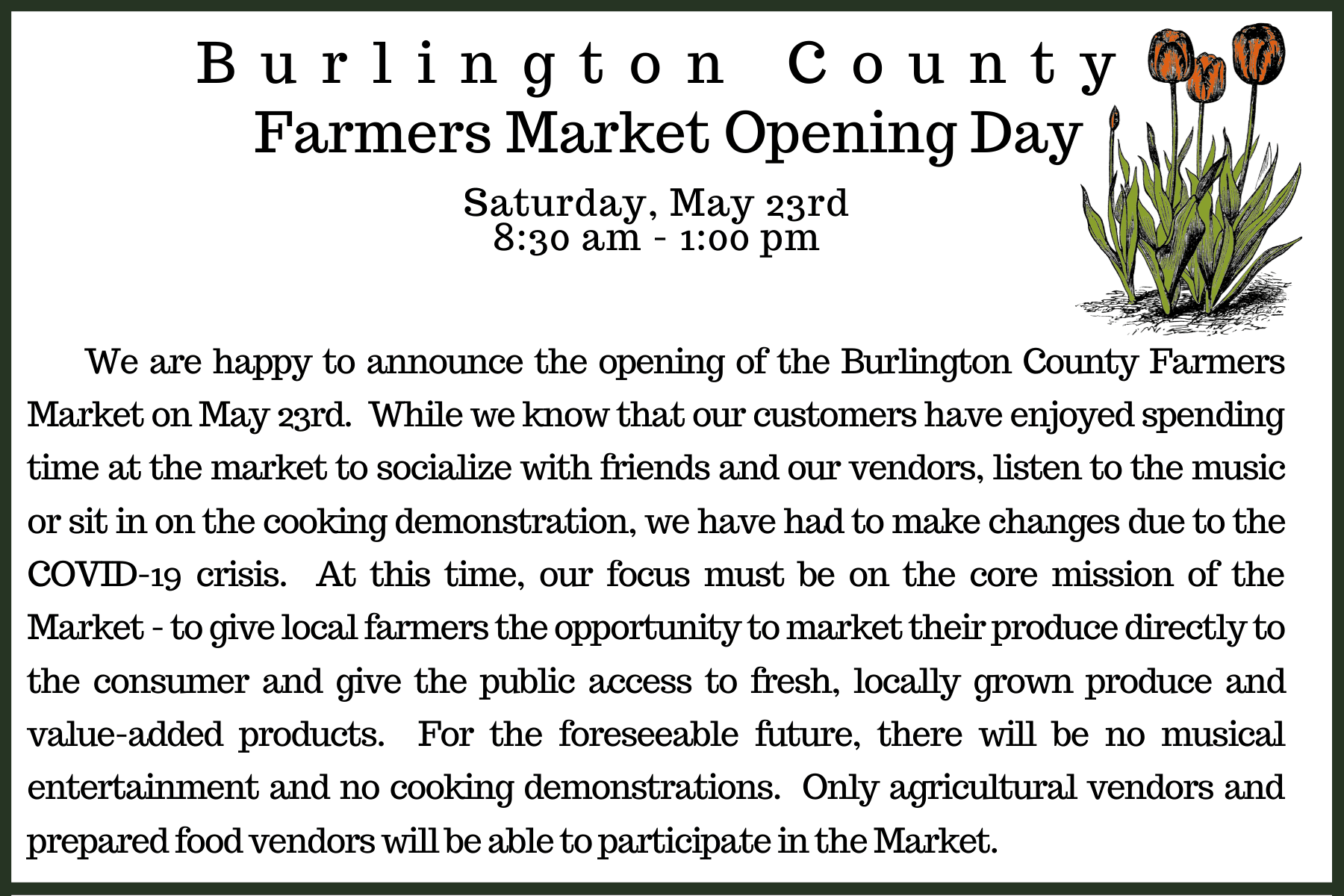 Farmers Market opening day