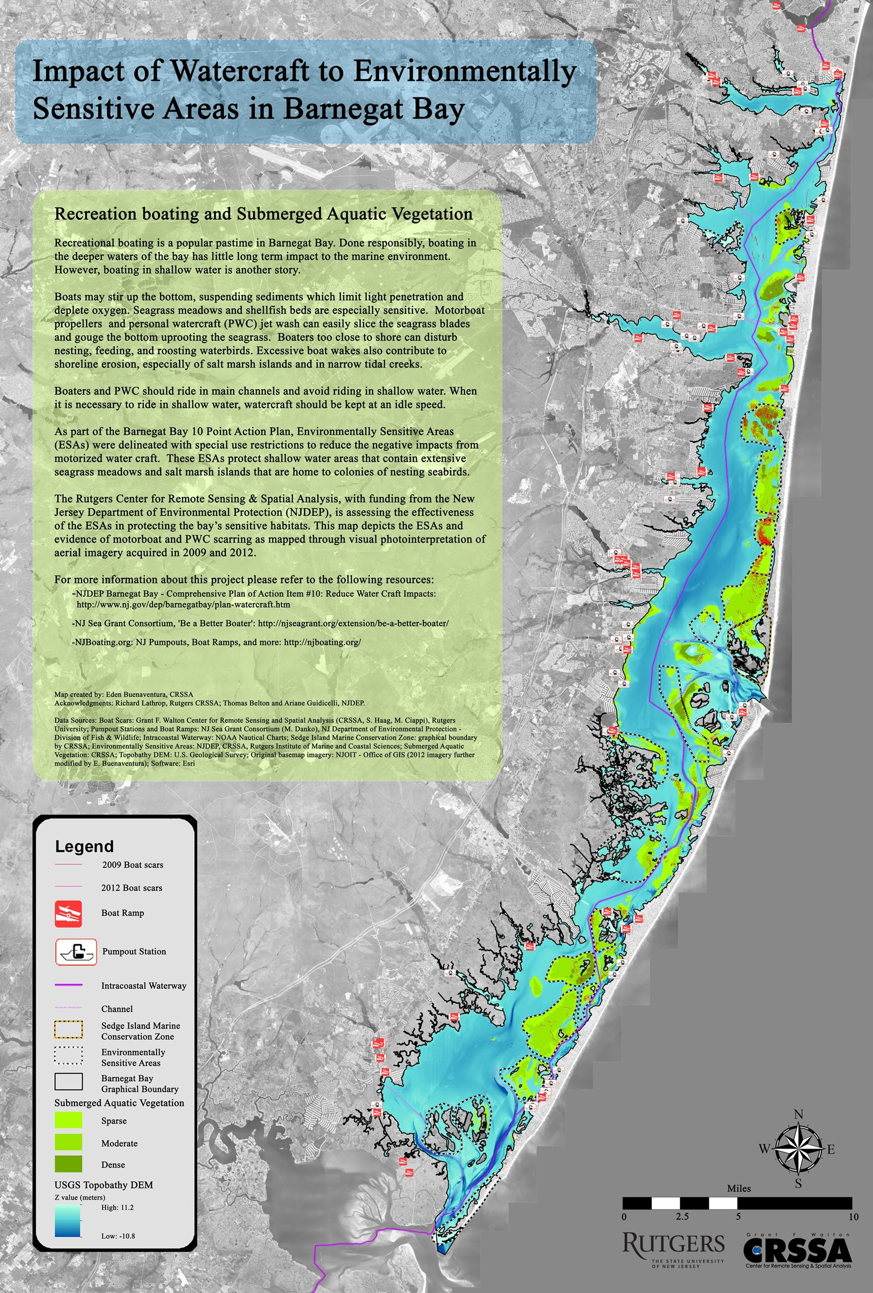 Number 12 Impact of Watercraft to Environmentally Sensitive Areas in Barnegat Bay